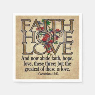 Guardanapo De Papel Cristão elegante da escritura da bíblia do amor da