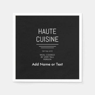 Guardanapo De Papel Culinária francesa engraçada de Haute do