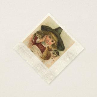 Guardanapo De Papel cutie do Dia das Bruxas do vintage