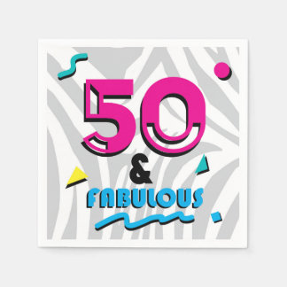 guardanapo de papel da 50th e festa de aniversário