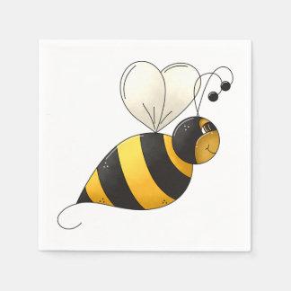 Guardanapo de papel da abelha gorda