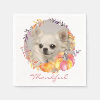 Guardanapo de papel da acção de graças grata da
