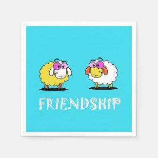 Guardanapo de papel da amizade bonito dos