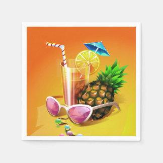 Guardanapo de papel da bebida tropical
