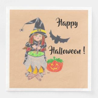 Guardanapo De Papel De Jantar Guardanapo de papel da bruxa feliz do Dia das