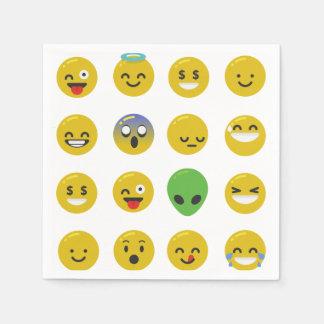Guardanapo de papel da cara feliz de Emoji
