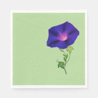 Guardanapo de papel da corriola azul escuro