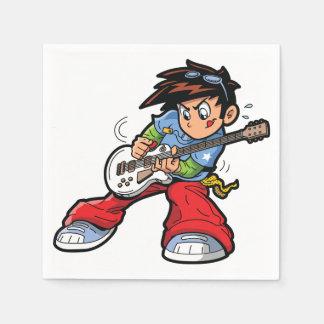 Guardanapo de papel da estrela do rock do Anime