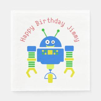 Guardanapo de papel da festa de aniversário azul