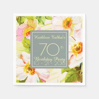 Guardanapo de papel da festa de aniversário do 70