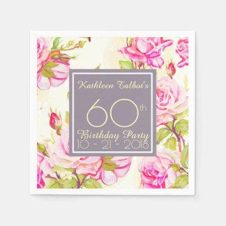 Guardanapo de papel da festa de aniversário idosa