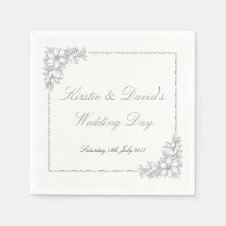 Guardanapo de papel da festa de casamento com