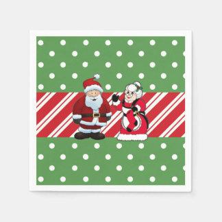 Guardanapo de papel da festa de Natal do Sr. e da