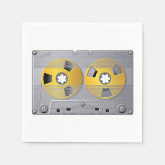 Guardanapo de papel da fita da cassete áudio