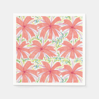 Guardanapo de papel da flor tropical ensolarada
