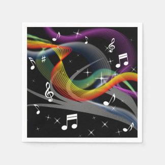 Guardanapo de papel da ilustração da música