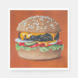 Guardanapo de papel da ilustração do Hamburger