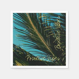 Guardanapo de papel da palmeira positiva das
