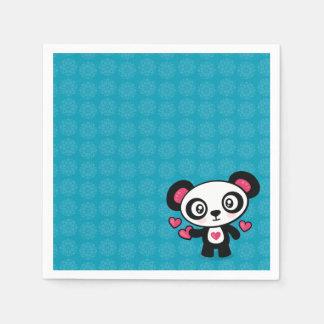 Guardanapo de papel da panda bonito