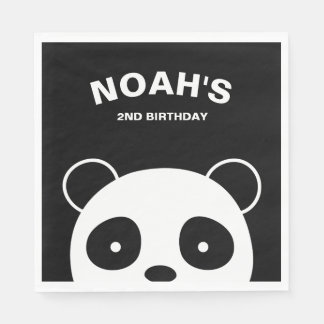 Guardanapo de papel da panda, festa de aniversário