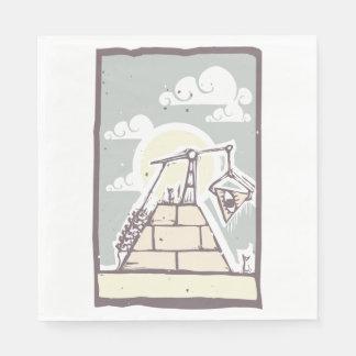 Guardanapo de papel da pirâmide maçónica
