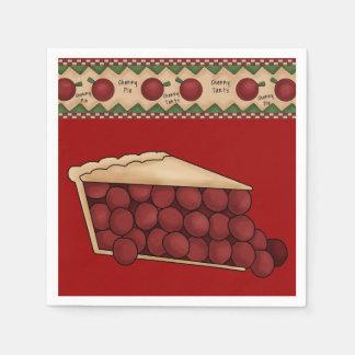 Guardanapo de papel da torta da cereja doce