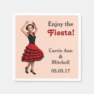 Guardanapo De Papel Dançarino bonito do Flamenco (personalizado)
