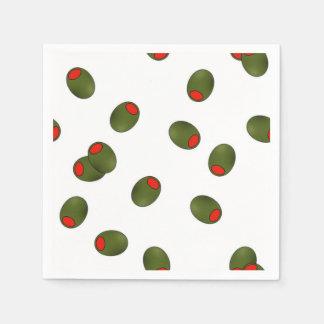 Guardanapo de papel das azeitonas do Pimento