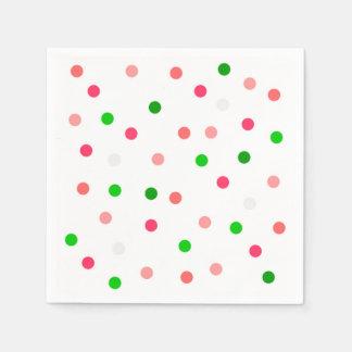 Guardanapo de papel das bolinhas da melancia