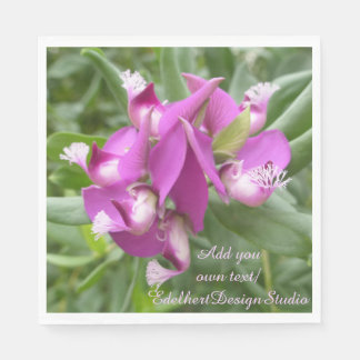 Guardanapo de papel das flores tropicais roxas