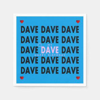 Guardanapo De Papel Dave no rosa