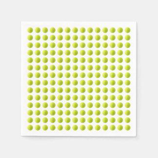 Guardanapo de papel de bola de tênis