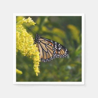 Guardanapo de papel de borboleta de monarca