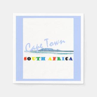 Guardanapo de papel de Cape Town da montanha da