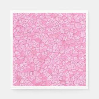 Guardanapo de papel de cristal cor-de-rosa