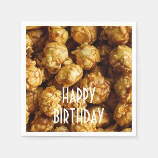 Guardanapo de papel de feliz aniversario da pipoca