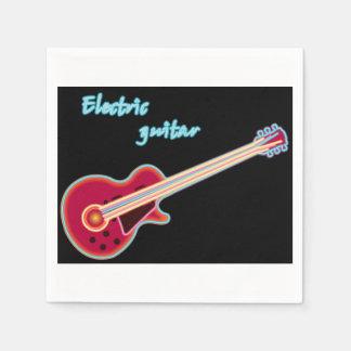 Guardanapo de papel de guitarra elétrica