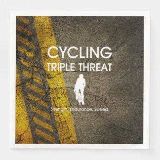 Guardanapo De Papel De Jantar Ameaça SUPERIOR triplicar-se do ciclismo