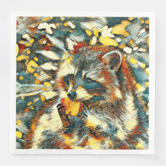Guardanapo De Papel De Jantar AnimalArt_Raccoon_20170601_by_JAMColors