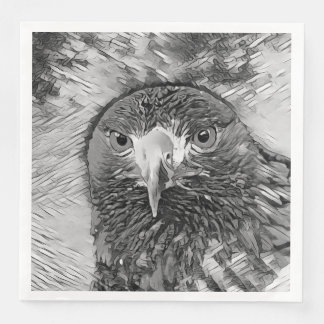 Guardanapo De Papel De Jantar AnimalArtBW_Eagle_20170602_by_JAMColors