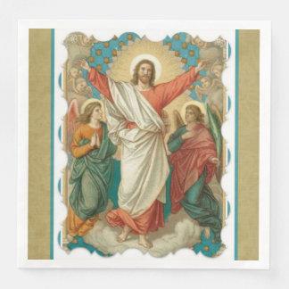 Guardanapo De Papel De Jantar Anjos religiosos de Pascha Jesus da ressurreição
