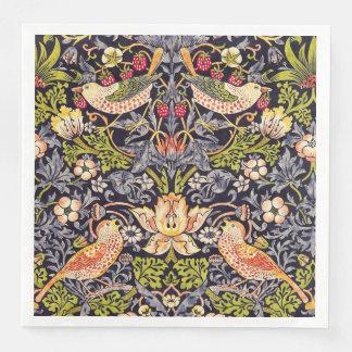 Guardanapo De Papel De Jantar Arte floral Nouveau do ladrão da morango de