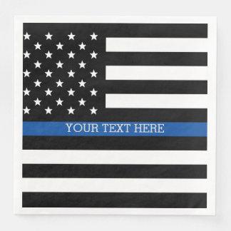 Guardanapo De Papel De Jantar Blue Line fino - bandeira americana
