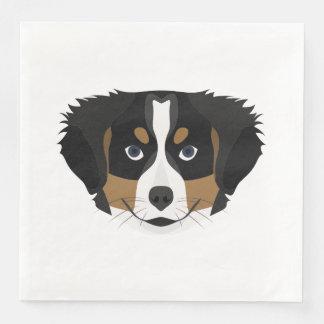 Guardanapo De Papel De Jantar Cão de montanha de Bernese da ilustração