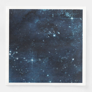 Guardanapo De Papel De Jantar Casamento celestial da aguarela da galáxia do céu