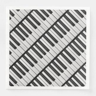 Guardanapo De Papel De Jantar Chaves pretas & brancas do piano