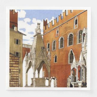 Guardanapo De Papel De Jantar Cidade de Verona em Italia