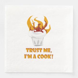 Guardanapo De Papel De Jantar Confie que eu mim é um cozinheiro!