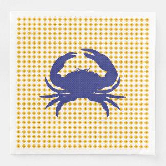 Guardanapo De Papel De Jantar Crab-Mod_Navy-Gold-Floral-NAPKIN-MULTI-CHOICE