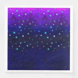 Guardanapo De Papel De Jantar Da noite bonita da galáxia do espaço imagem